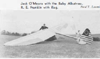 Jack O'Meara with Baby Albatross