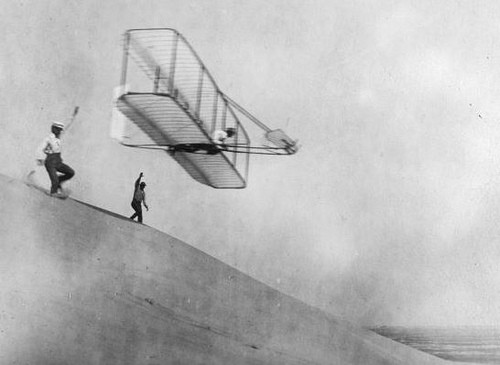 Wright brothers' glider.