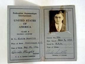 Al Santilli's glider license