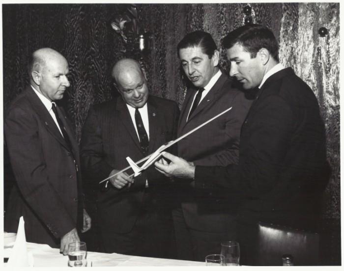 John Robinson, Paul Bikle,  Scott Crossfield, Jack Lambie