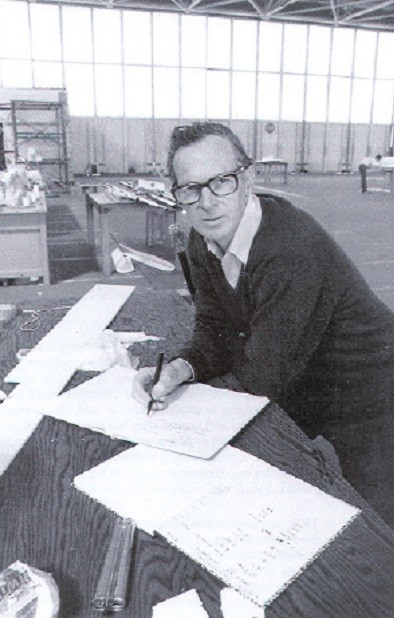 Paul MacCready at one of his desks.