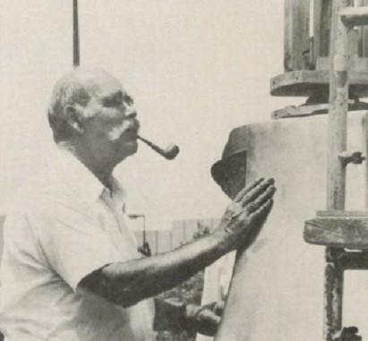 Ernie Schweizer at work.